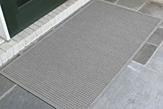 WaterHog Fashion Commercial-Grade Entrance Mat, Indoor/Outdoor Charcoal Floor Mat 5' Length x 3' Width, Medium Grey by M+A Matting