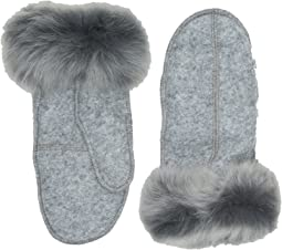 UGG - Fabric Mitten with Fur Trim