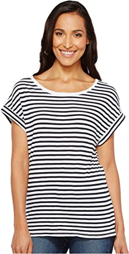 French Stripe Roll-Up Tee
