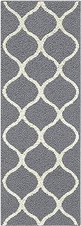 Maples Rugs Rebecca Non Skid Hallway Carpet Entry Runner Rugs, 1'9 x 5', Grey/White