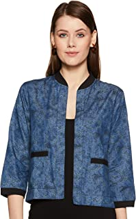 KRAVE Women's Paisley Denim Shrug