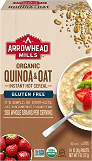 Arrowhead Mills Organic GlutenFree Instant Hot Cereal, Quinoa and Oat, 8 Count Box