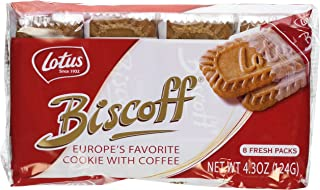 Biscoff Cookies - 4.3 Ounce (Pack of 2) (16 Individual Snack Packs)