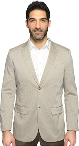 Regular Fit Stretch Heather Twill Suit Jacket
