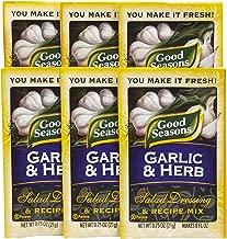 good seasons garlic and herb ingredients