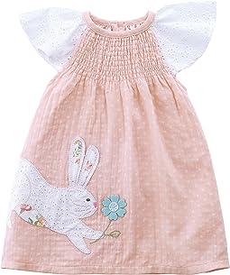 Mud Pie Easter Bunny Smocked Dress (Toddler)