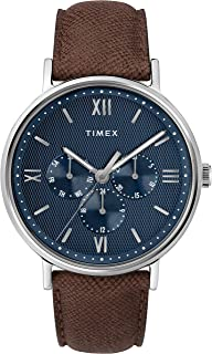 Timex Southview Multi Function 41mm Leather Strap Watch For Men
