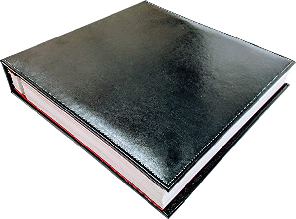 Self Adhesive Photo Album Black Leather 50 Pages 100 Sheets Scrapbook Wedding Magnetic Sheet Self Stick 5x7 8x10 4x6 Picture Family Large Travel Photo Book Vacation