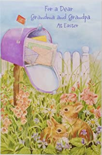 For a Dear Grandma and Grandpa At Easter Greeting Card for Grandparents -
