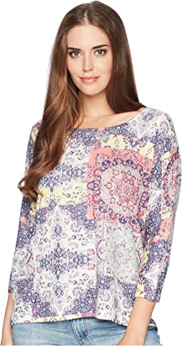Nally & Millie Dolman Sleeve Tile Print Tunic