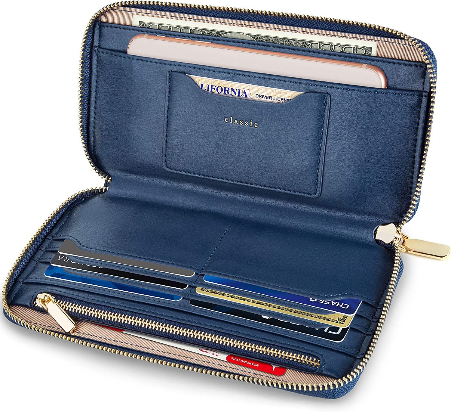 SERMAN BRANDS Women's Classic Clutch RFID for Women free Wallets Challenge the lowest price of Japan ☆ Bloc