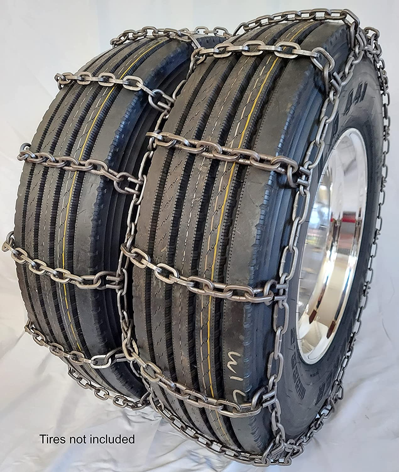 GSL-4149 Time sale Alloy Truck Square Rod 10.00-22 2 Award Tire Chains 11-24.5