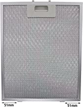 Spares2go Universal Campana Antigrasa Filtro (Plata, 320 x