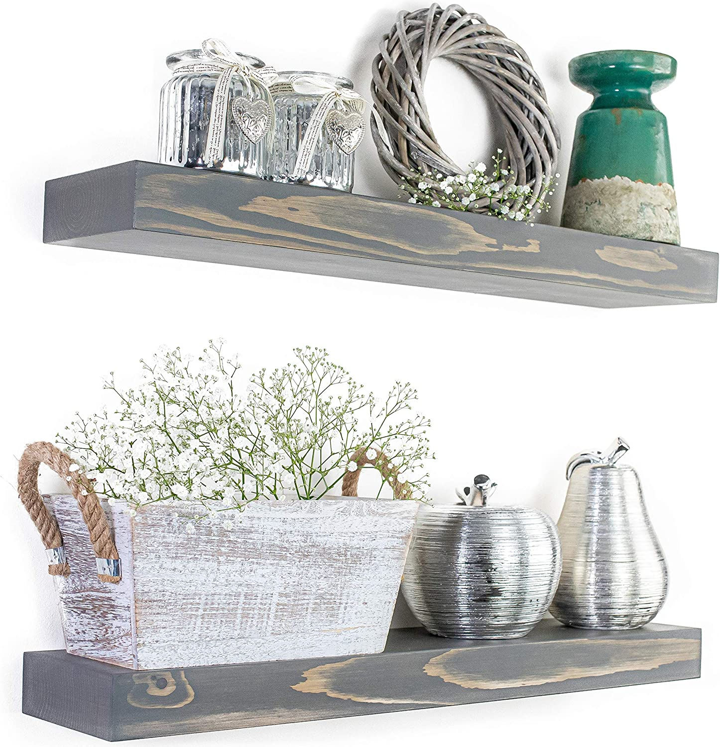 Rustic OFFicial site Wood Floating Shelves for Wall Max 42% OFF FUTUREWOOD Float - Each by