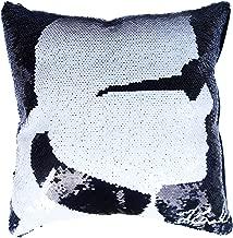 Verily Home Goods Sequin Throw Karl Pillow Case, Decorative Reversible Magic Pillow Cover, Designer Inspired Black & White Mermaid Shimmer Throw Pillowcase, Luxury Decor 14 x 14 Bling Accent