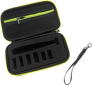vhbw Etui hoes compatibel met Philips OneBlade QP2630, QP26xx scheerapparaat - beschermhoes, zwart/groen
