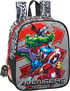 Mochila Guardería Niña Adaptable Carro Avengers safta 612079232, Multicolor