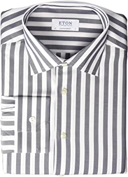 Contemporary Fit Bold Stripe Button Down Shirt