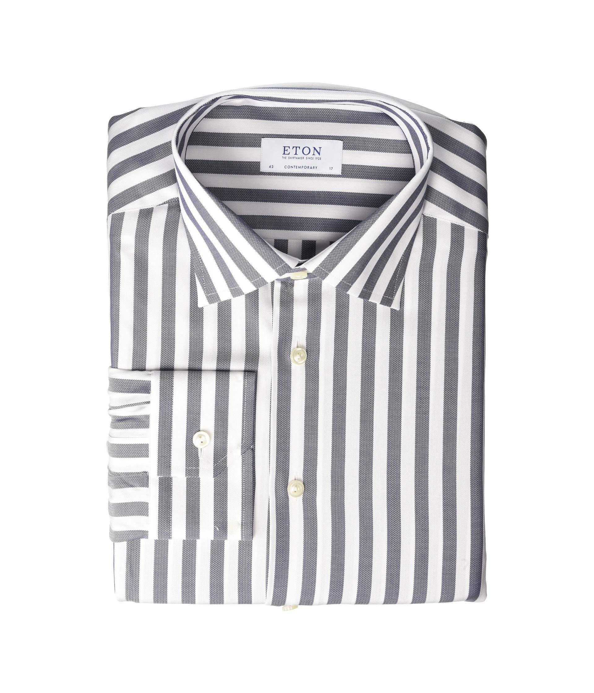 Eton Contemporary Fit Bold Stripe Button Down Shirt At Luxuryppos