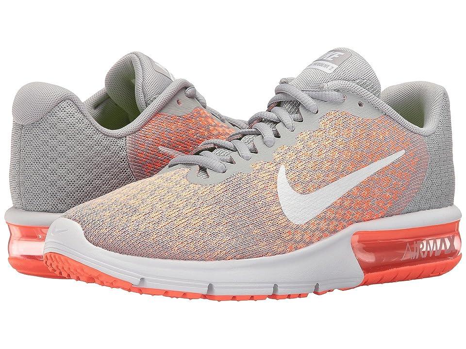 Nike Air Max Sequent 2 (Wolf Grey/White/Bright Mango/Sunset Glow) Women