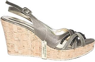 e1a415a0f Silvana 776 s Italian Womens Grayish-Green Strappy Sandals with Swarovski  Elements