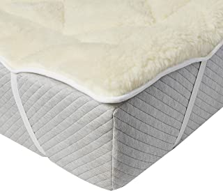 Perfect Fit | Cool Wool Extra Plush Down Alternative Reversible Mattress Pad / Topper, Hypoallergenic, Washable Wool (Queen)