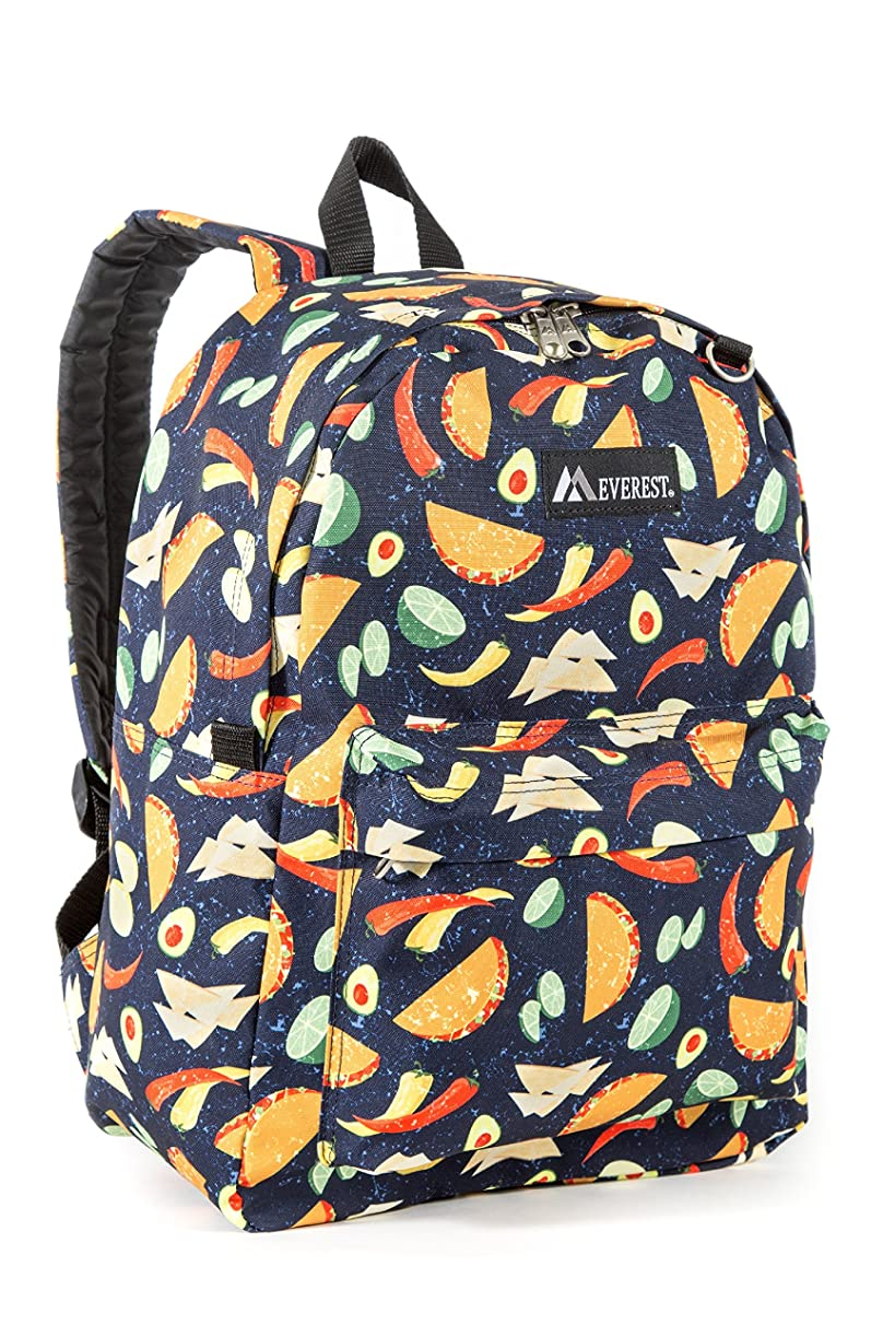 Everest Classic Pattern Backpack, Tacos, One Size