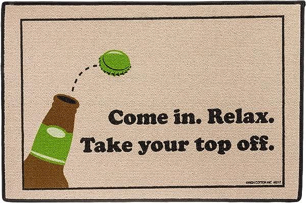 HIGH COTTON Take Your Top Off Indoor Outdoor Doormat
