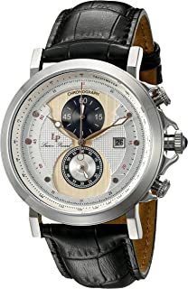 Lucien Piccard Men's 40015-02S-RA-CP Pegasus Analog Display Quartz Black Watch