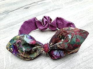 Abstract Pattern Headband, Cute Hair Accessory, Headband with Bow, Tie Up Headband, Women's Accessory,
