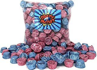 CrazyOutlet Pack - Reese's Milk Chocolate Peanut Butter Miniature Cups, Light Blue Pink Foil Candy Mix, Bulk, 2 Lbs