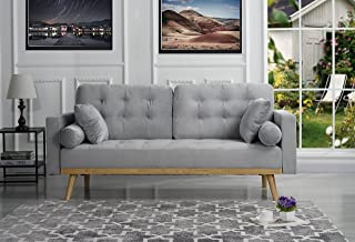 Amazon.com: Grey - Sofas & Couches / Living Room Furniture ...