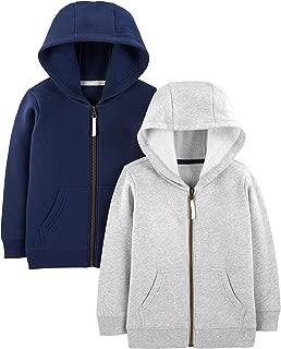 Toddler Boys' 2-Pack Fleece Full Zip Hoodies