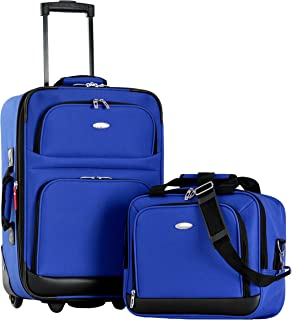 Olympia Let's Travel 2pc Carry-on Luggage Set, Royal Blue, One Size