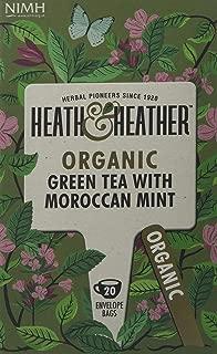 Heath & Heather Organic Green Tea & Moroccan Mint (Pack of 6)