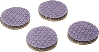 "Dura-Grip Heavy Duty 2"" Round, 3/8"" Thick Non-Slip Rubber (No Glue or Nails) Furniture Floor Pads, Protectors-Set of 4"