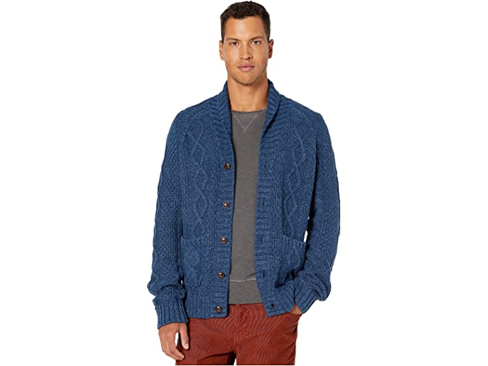 J.Crew Rugged Cotton Cable Knit Shawl Collar Cardigan