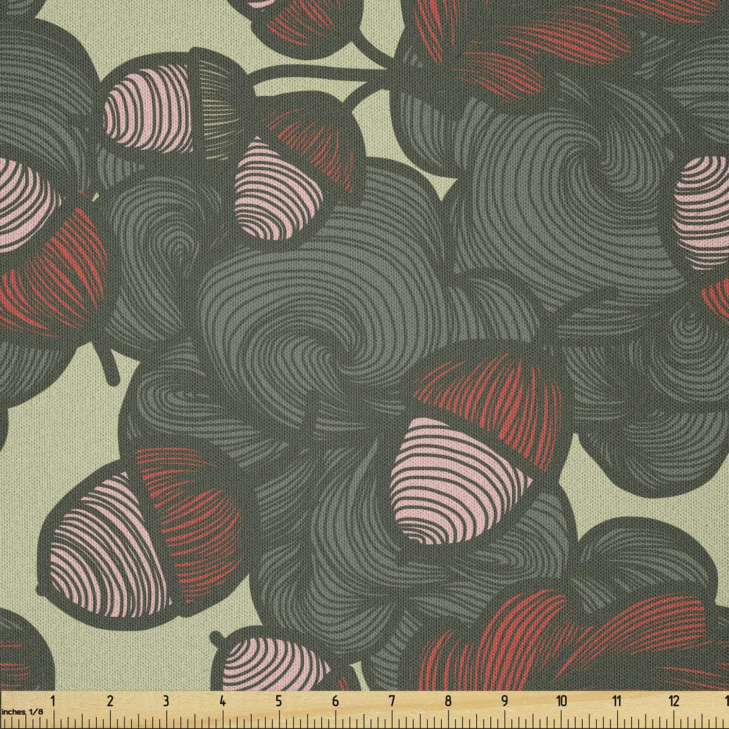 Lunarable Floral Fabric SALENEW very popular! by The Autumn Mo 35% OFF Yard of Pattern