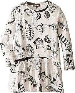 Roberto Cavalli Kids - Long Sleeve All Over Print Drop Waist Dress (Toddler/Little Kids)