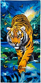 Dawhud Direct Moonlight Tiger Cotton Beach Towel
