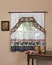 Amazon Com Rooster Kitchen Curtains
