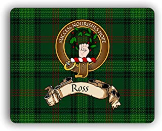 Ross Scottish Clan Hunting Tartan Crest Computer Mouse Pad