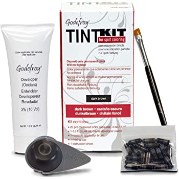 Godefroy Professional Hair Color Tint Kit, Dark Brown, 20 Applications