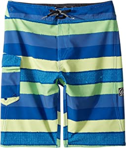 Volcom Kids Magnetic Liney Mod Boardshorts (Big Kids)