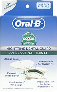Oral-B® Nighttime Dental Guard – Less Than 3-Minutes for Custom Teeth Grinding Protection with Scope Mint Flavor