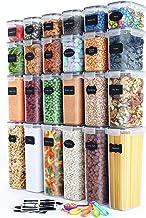 Chef's Path Juego Recipientes Herméticos Almacenamiento – 24 Piezas – Organización de Cocina y Alacena – Harina, Azúcar, Cereales – Sin BPA – Recipientes de Plástico – Etiquetas, Marcador, Cucharas