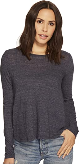 Three Dots - Long Sleeve Swing Top