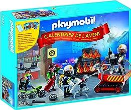 Playmobil Calendario de Adviento - Pack Bomberos con Juego de Cartas (5495)