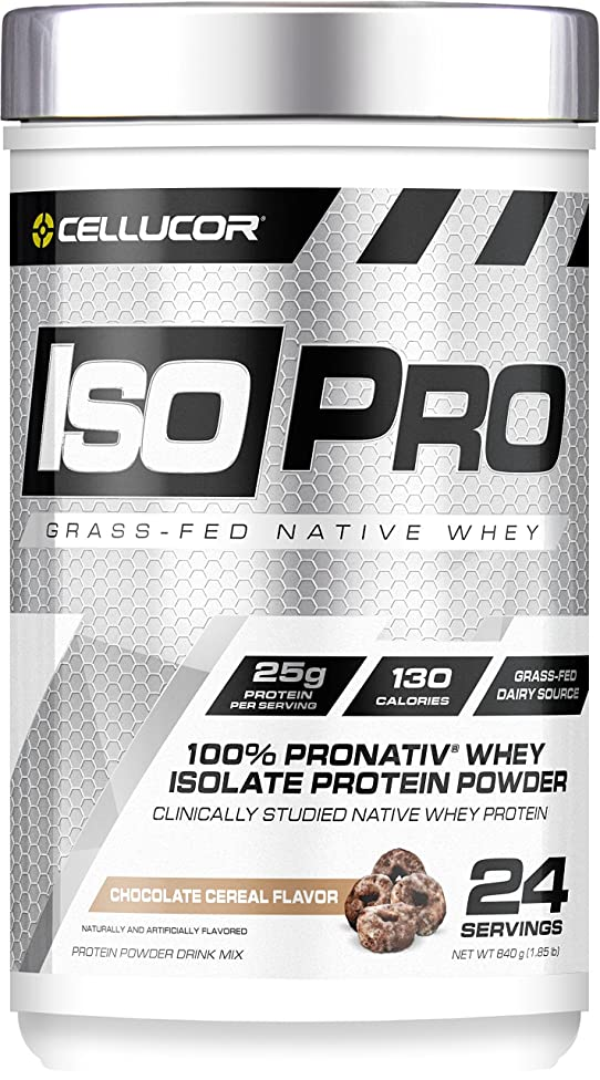 Cellucor IsoPro 100% Grass Fed Native Whey Protein Isolate Powder, Chocolate Cereal, 24 Servings