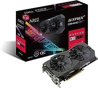 ASUS AREZ-STRIX-RX570-O4G-GAMING Radeon RX 570 4 GB GDDR5 - Tarjeta gráfica (Radeon RX 570, 4 GB, GDDR5, 256 bit, 5120 x 2880 Pixeles, PCI Express x16)